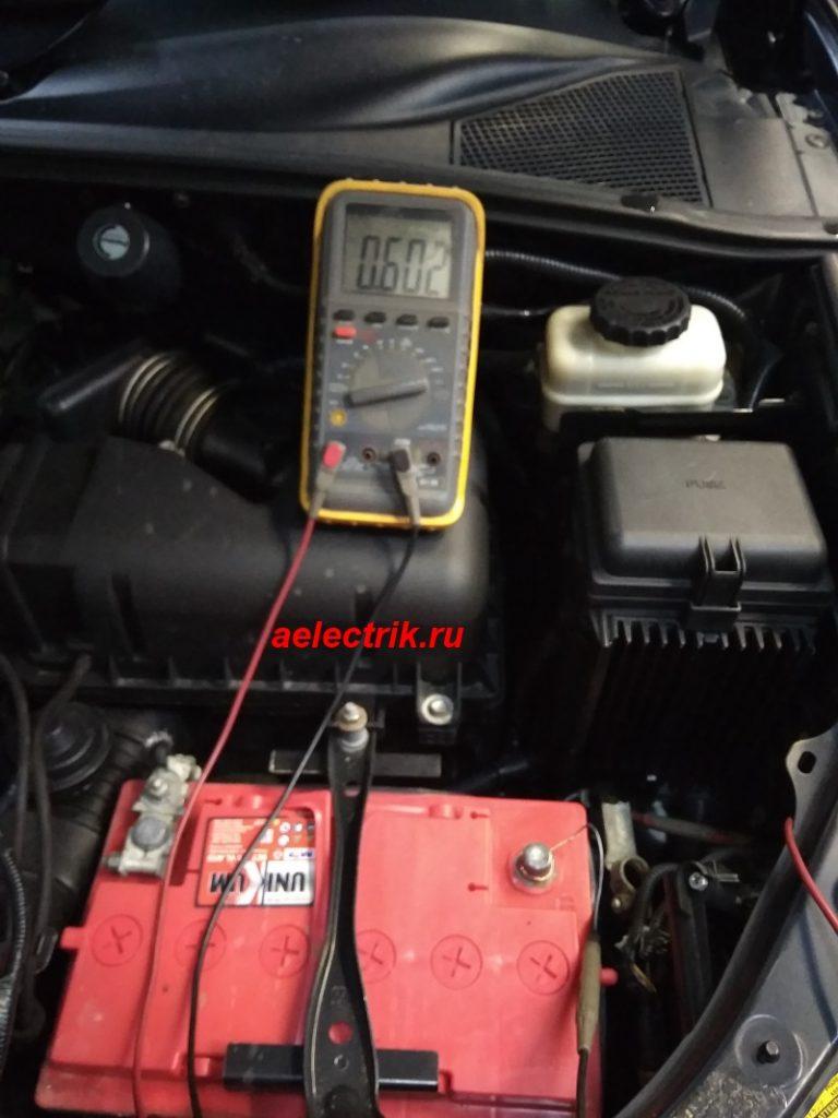 большой ток покоя лексус, разряжается аккумулятор, замер тока утечки мультиметром